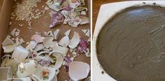 Z rozbitého porcelánu urobila krásnu záhradnú dekoráciu, ktorá poteší aj tých najnáročnejších