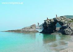 Kalamos beach near Kymi village, west Aegean sea, Greece Naxos Greece, Greece Map, Athens Greece, Greece Travel, Beautiful Islands, Beautiful Places, Mykonos Hotels, Greece Photography, Santorini Island