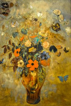 Odilon Redon - Still Life with Flowers, 1905 at Art Institute of Chicago IL