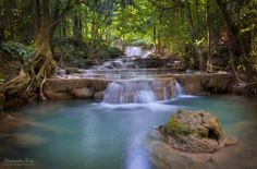 "Emerald Pool - The Huay Mae Khamin Falls in the West of Thailand, close to the border with Myanmar.  Feel free to follow me on  <a href=""https://www.facebook.com/pages/Alexander-Riek-Photography/588013561261816"">FACEBOOK</a>  or to visit my  <a href=""http://www.photographichorizons.com"">WEBSITE</a>"