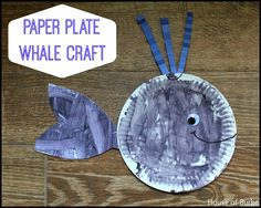 Paper Plate Whale Craft - House of Burke
