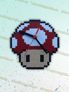 Reloj Seta Mario Bros (Roja) Hama Beads