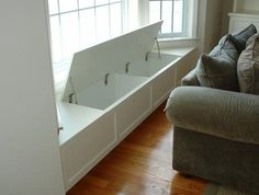 banquette seating with storage