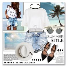 """""""BEACH STYLE"""" by julijana-k ❤ liked on Polyvore featuring Topshop, Garance Doré, Calypso Private Label and Zara"""