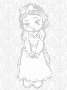 Photo of Snow White for fans of Disney Princess 25880278 Disney Sketches, Disney Drawings, Cartoon Drawings, Art Drawings, Disney Princess Babies, Baby Disney, Disney Love, Disney Animators, Disney Animator Doll