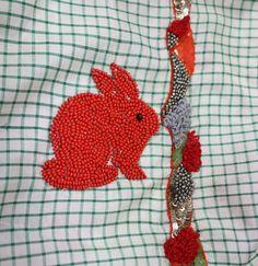 Embroidery scarf by Hellen van Berkel