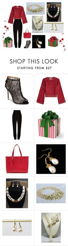Holiday Shopping by artistinjewelry on Polyvore featuring мода, Jonathan Simkhai, Haider Ackermann, Badgley Mischka, Burberry and Grandin Road
