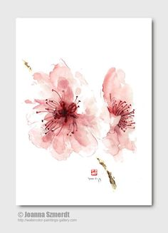 Image result for painting with a twist cherry blossom