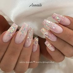 60 Trendy Glitter Coffin Nail Designs 60 Trendy Glitter Coffin Nail Designs,French Nails Glitter may remind you of twinkling stars in the dark, but glitter nails can be surprisingly complex. The glitter sequins embellish. Coffin Nails Kylie Jenner, Coffin Nails Glitter, Black Coffin Nails, Cute Acrylic Nails, Cute Nails, Pink Coffin, Glitter Ombre Nails, Nails With Glitter Tips, Glitter French Nails