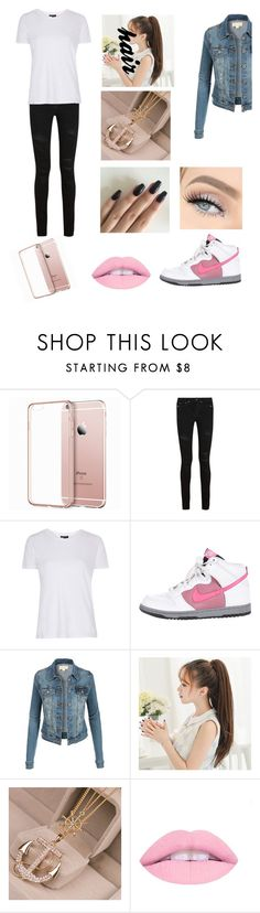"""""""Untitled #55"""" by tasneem-alshishani ❤ liked on Polyvore featuring Yves Saint Laurent, Topshop and NIKE"""