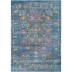 World Menagerie Misael Blue Area Rug - Wayfair $683