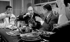 """Lino Ventura, Bernard Blier, Francis Blanche et Jean Lefebvre, """"Les Tontons flingueurs"""" - 1963"""