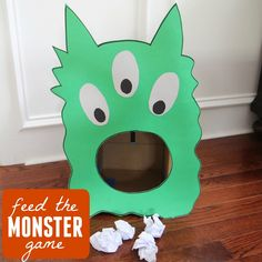 the Monster Game for Toddlers Toddler Approved!: Feed the Monster Game for ToddlersToddler Approved!: Feed the Monster Game for Toddlers Halloween Party Games, Theme Halloween, Halloween Birthday, Halloween Kids, Halloween Crafts, Halloween Horror, Halloween Stuff, Halloween Makeup, Halloween Decorations
