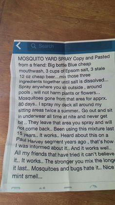 Bye bye mosquitoes