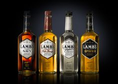CORBY SPIRIT & WINE | Lamb's Rum. Rebrand by Davis. Rum Bottle, Whiskey Bottle, Spiced Rum, Liquor, Lamb, Cocktails, Alcohol, Things To Come, Packaging
