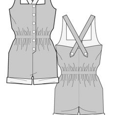 DEBRANO PLAYSUIT- Free Sewing Pattern