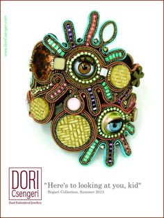 "Dori's Bogart bracelet ""Here's to looking at you, kid"" #doricsengeri #bracelet #hautecouture #statementjewelry"
