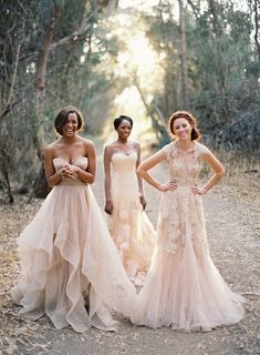 Gorgeous blush #gowns // Reem Acra #weddingdress