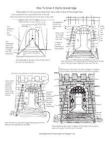 How to Draw Worksheets for The Young Artist: Printable How To Draw A Castle Drawbridge Worksheet