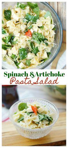 Spinach and Artichoke Pasta Salad #shareicecoldfun #ad @gianteagle