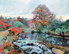 Armand Guillaumin (French, 1841-1927) - Landscape Of La Creuse, View From Pont Charraud, 1901