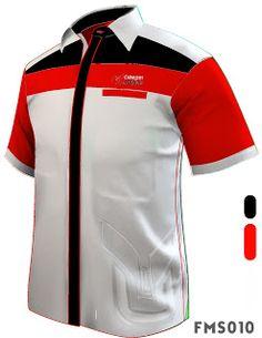FMS010 F1 SHIRT MALE SHIRT SHORT SLEEVE WHITE BASED SHIRT