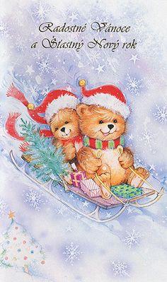 Vánoční a novoroční přání Teddy Bear, Tags, Animals, Animales, Animaux, Teddy Bears, Animal, Animais, Mailing Labels