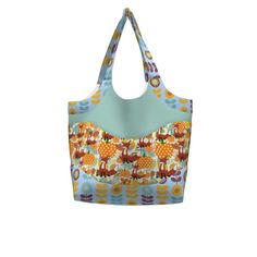 Betz White Smile & Wave Tote made with Spoonflower designs on Sprout Patterns.