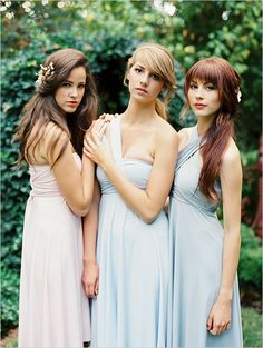 Try pastels for your bridesmaid dresses.