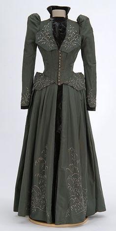 Beaded gray wedding dress1891