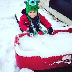 Batatinha do Tio já está brincando na neve! Benjamim!!!