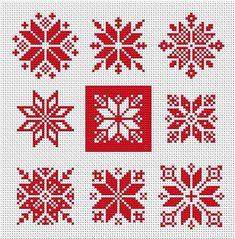 Tiny Cross Stitch, Cross Stitch Designs, Hand Embroidery Designs, Embroidery Patterns, Cross Stitching, Cross Stitch Embroidery, Christmas Embroidery, Christmas Cross Stitch Patterns, Knitting Charts