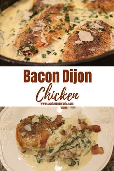 Bacon Dijon Chicken is the perfect one skillet dinner for the busiest of weeknights or the laziest of weekends. It is loaded with tons of flavor and yumminess making this a dish everyone will love.  Even better is KETO/Low Carb friendly and it has BACON... EVERYTHING Is better with Bacon! . .  #keto #chicken #onepandinner #dinner #bacon #dijon #recipe #sparklesnsprouts