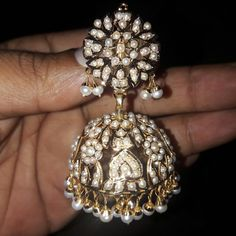 Finding The Right Men's Diamond Stud Earrings Indian Earrings, Big Earrings, Pearl Jhumkas, Hyderabadi Jewelry, India Jewelry, Gold Jewellery Design, Emeralds, Jewelry Patterns, Wedding Jewelry