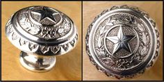 Texas State Capitol Star Drawer Pull or Door Knob