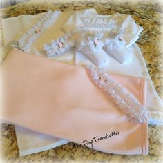 Little Rose Bud 5 piece Layette Set by TheTinyTrendsetter on Etsy, $79.00