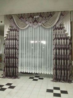 Classic Curtains, Beautiful Curtains, Drapery Panels, Curtain Designs, Hanging Curtains, Window Treatments, Valance, Windows, Cake