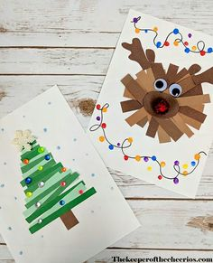 Paper Strips Christmas Crafts - The Keeper of Cheerios # Keeper # . - Paper Strips Christmas Crafts – The Keeper of the Cheerios - Preschool Christmas, Diy Christmas Cards, Christmas Activities, Christmas Crafts For Kids, Holiday Crafts, Christmas Gifts, Childrens Christmas Card Ideas, 2nd Grade Christmas Crafts, Christmas Tree