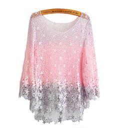 Lace Gradient Crochet Blouses