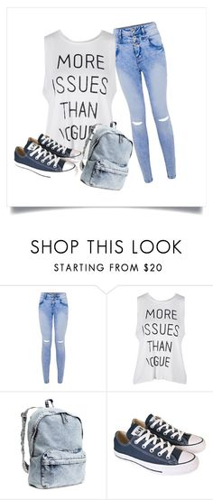 """~OOTD~"" by crazytaylah-22 ❤ liked on Polyvore featuring H&M and Converse"