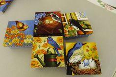 Caixas de MDF - Motivo pássaros.