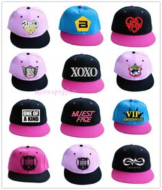 ab83b48bd2a 2ne1 b1a4 bigbang infinite nuest exo shinee snsd u-kiss cap hat snapback  kpop