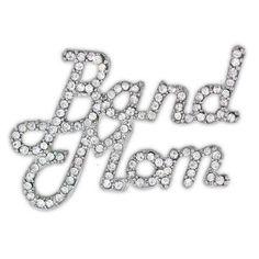 Rhinestone Band Mom Pin . $9.95