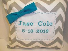 Personalized Baby Gift, Personalized Pillow, Personalized Baby Shower Gift, Childrens Gift Personalized Baby Shower Gifts, Personalized Pillows, Childrens Gifts, Baby Pillows, Unique Jewelry, Handmade Gifts, Etsy, Handcrafted Gifts, Hand Made Gifts