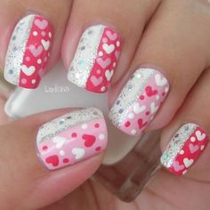 Valentine's Day Nails - http://www.heygirl.net/clothing-fashion/valentines-day-nails/