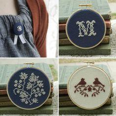 Beautiful cross stitched monogram.