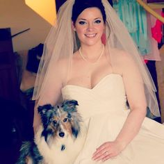 Bride with her Sheltie
