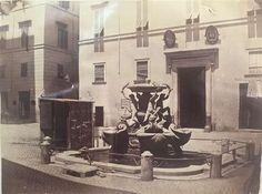 1865/68 autore non identificato . Piazza Mattei - Fontana delle Tartarughe. Painting, Rome, Painting Art, Paint, Draw, Paintings