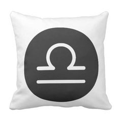 Simple Black and White Libra Pillow. Throw Pillow - home gifts ideas decor special unique custom individual customized individualized