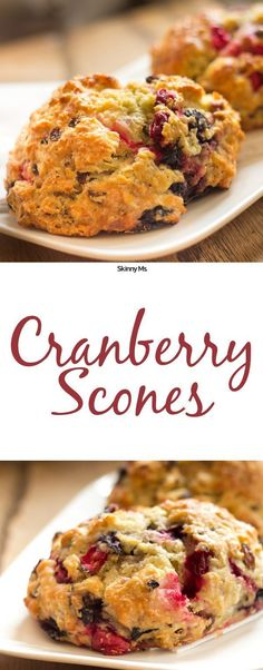 These Cranberry Currant Scones are so easy and taste so much like fall.